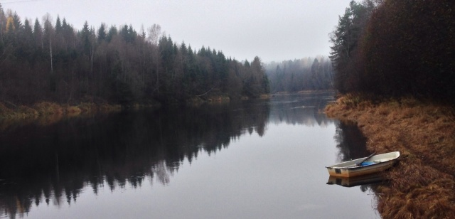 Foto Leo Oras  Ljungan uppströms Vattenverket i Nolby lördagen den 26/10 2013