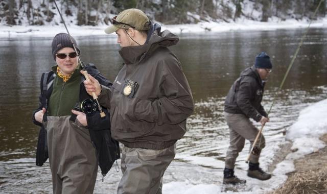 Photo Svanthe Harström.  River Ljungan Sweden, Fishing hosts