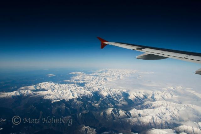 Pyreneerna från flyg