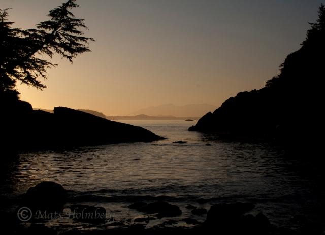 Foto Mats Holmberg Solnedgång Vancouver Island