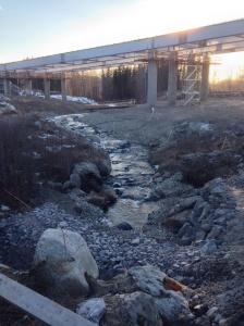 Foto Leo Oras  Vaplebäcken uppströms 16/3-14